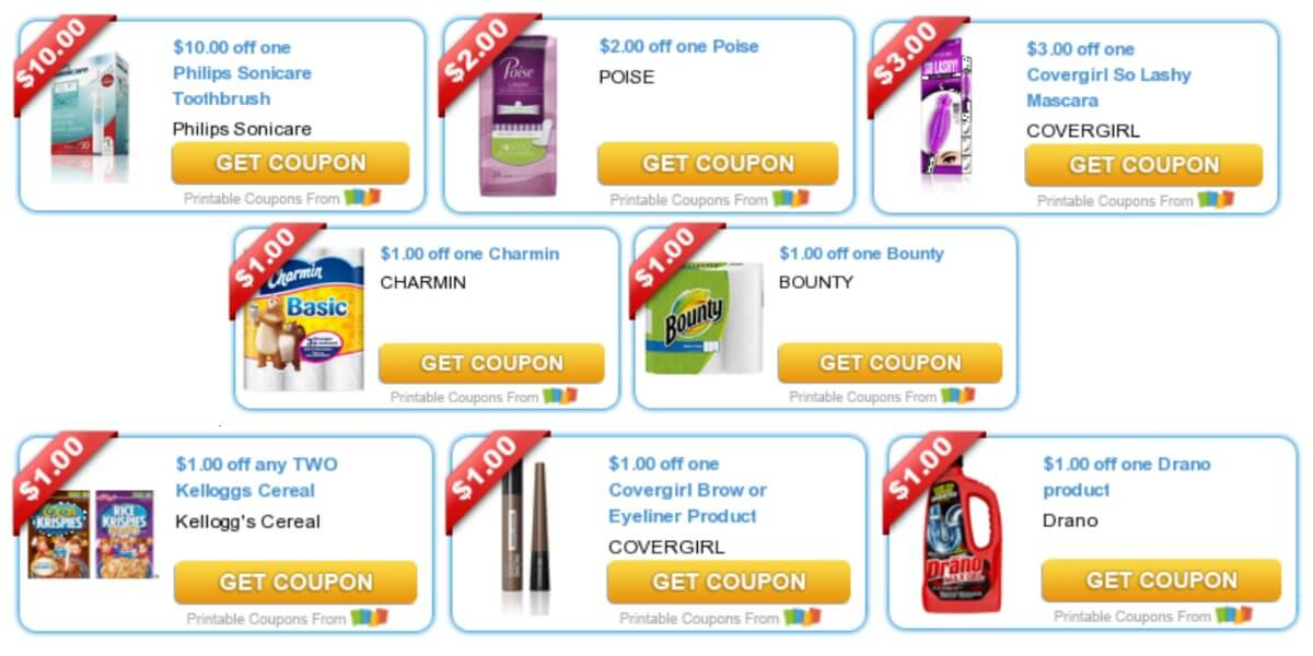 Covergirl newspaper coupons