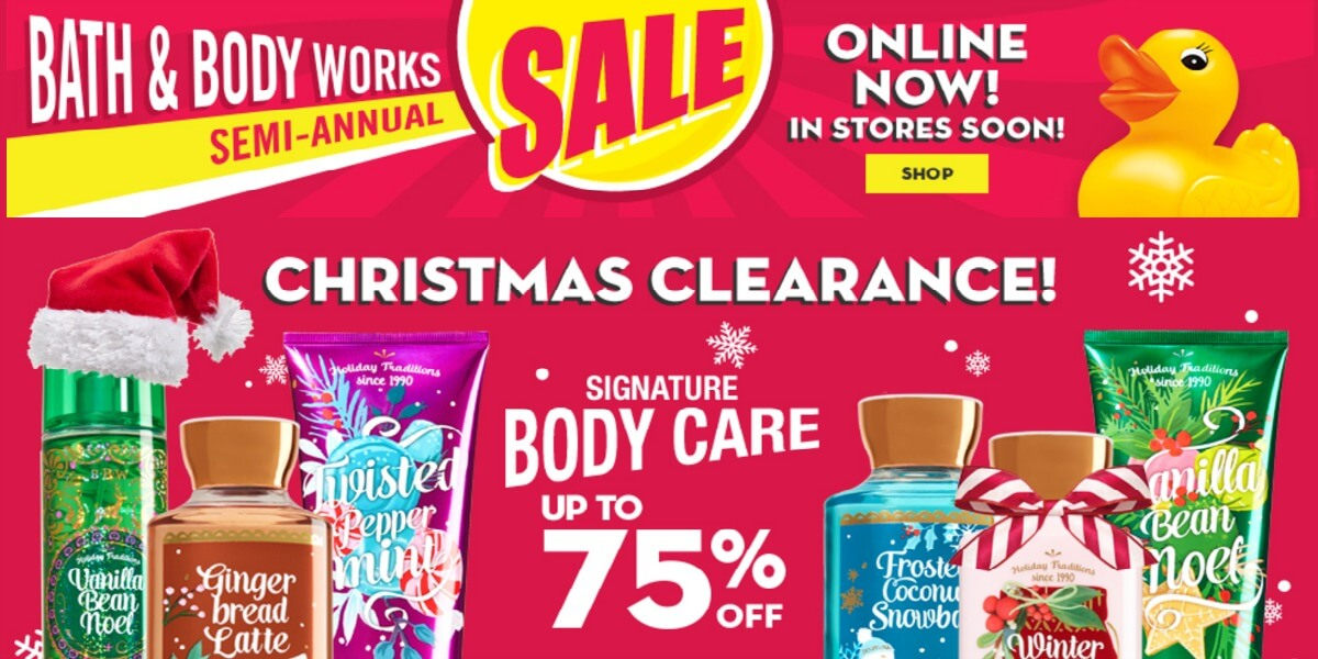 Bath   Body Works After Christmas Sale 2016. Bath   Body Works After Christmas Sale   Up to 75  Off   Shower