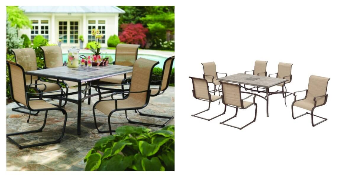 Hampton Bay Belleville 7 Piece Patio Dining Set 249 Reg 499 Free Shipping Living Rich With Coupons
