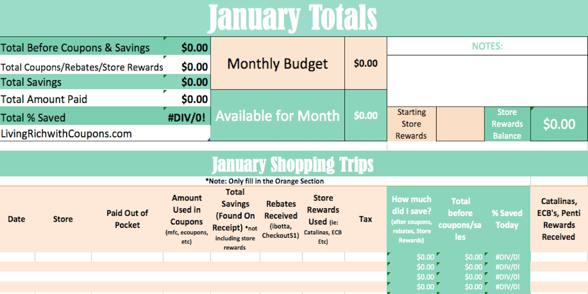 Grocery Budget Tracker