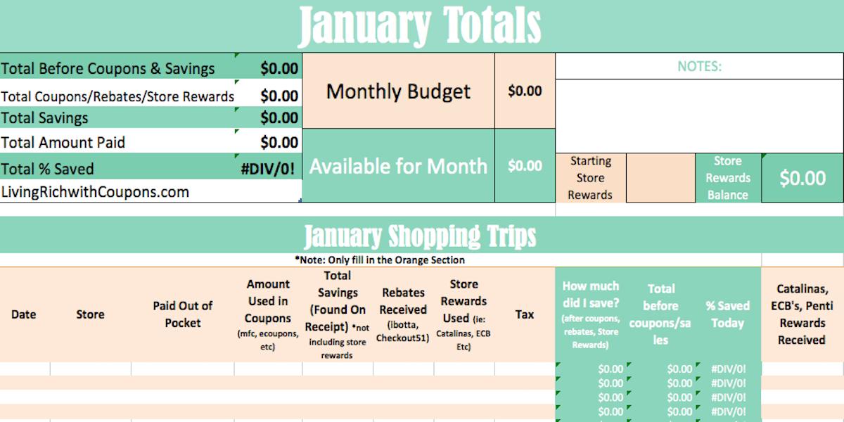 Grocery Savings Calculator