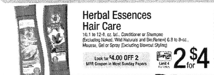 graphic relating to Herbal Essences Coupons Printable called 2 Totally free Natural Essences Hair Treatment Solutions at ShopRite!2/5
