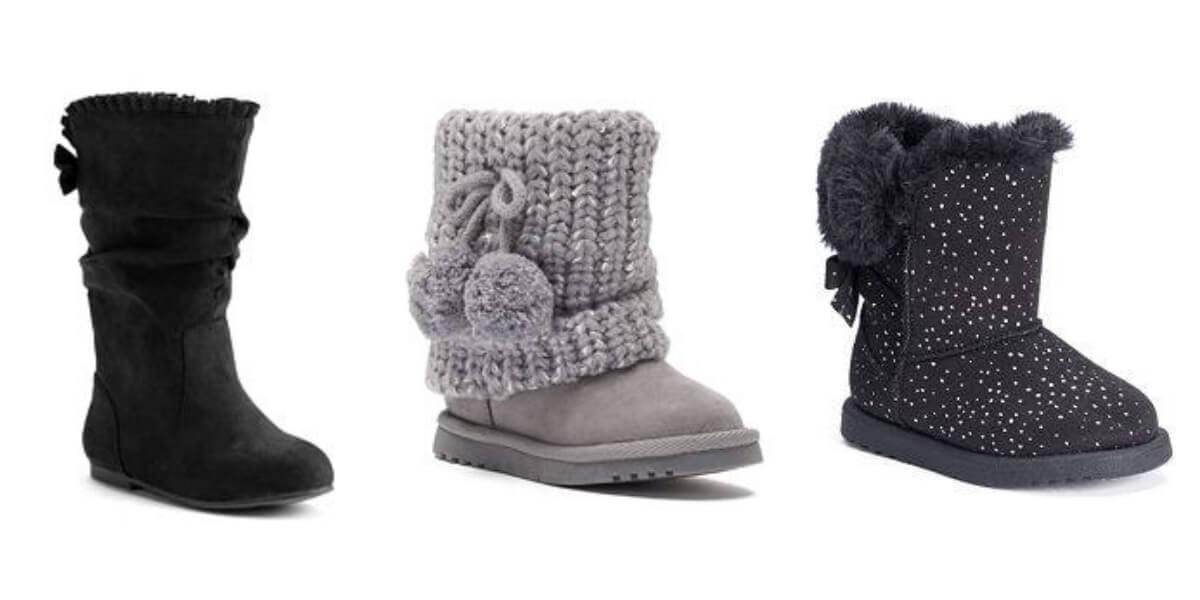 Kohl's: Toddler Girls' Boots 2-Pairs