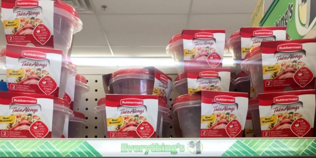 Rubbermaid Takealong Containers Just 0 50 At Dollar Tree
