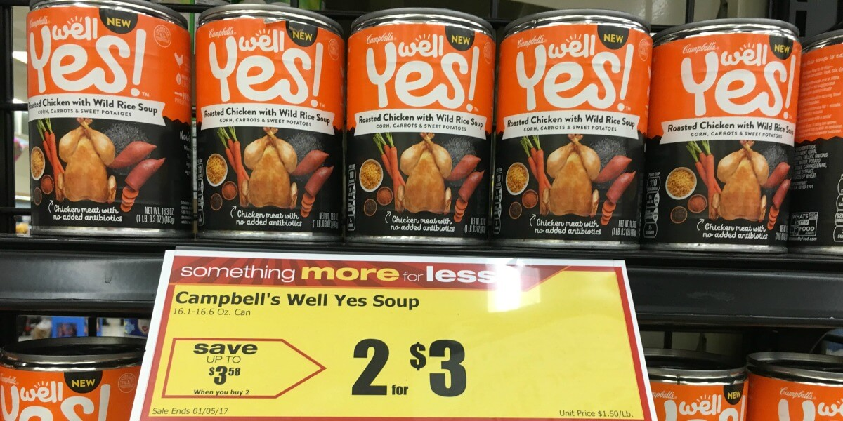 Free campbell s well yes soups at acme rebates living rich with