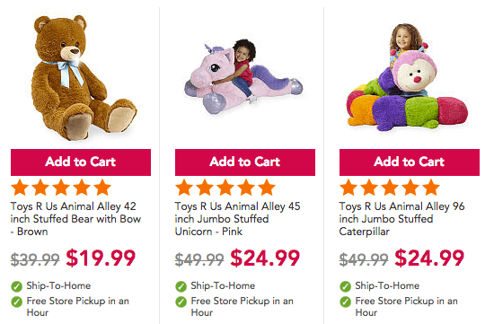 Unicorn Teddy Bear Toys R Us, 50 Off Animal Alley Jumbo Plush Stuffed Toysliving Rich With Coupons