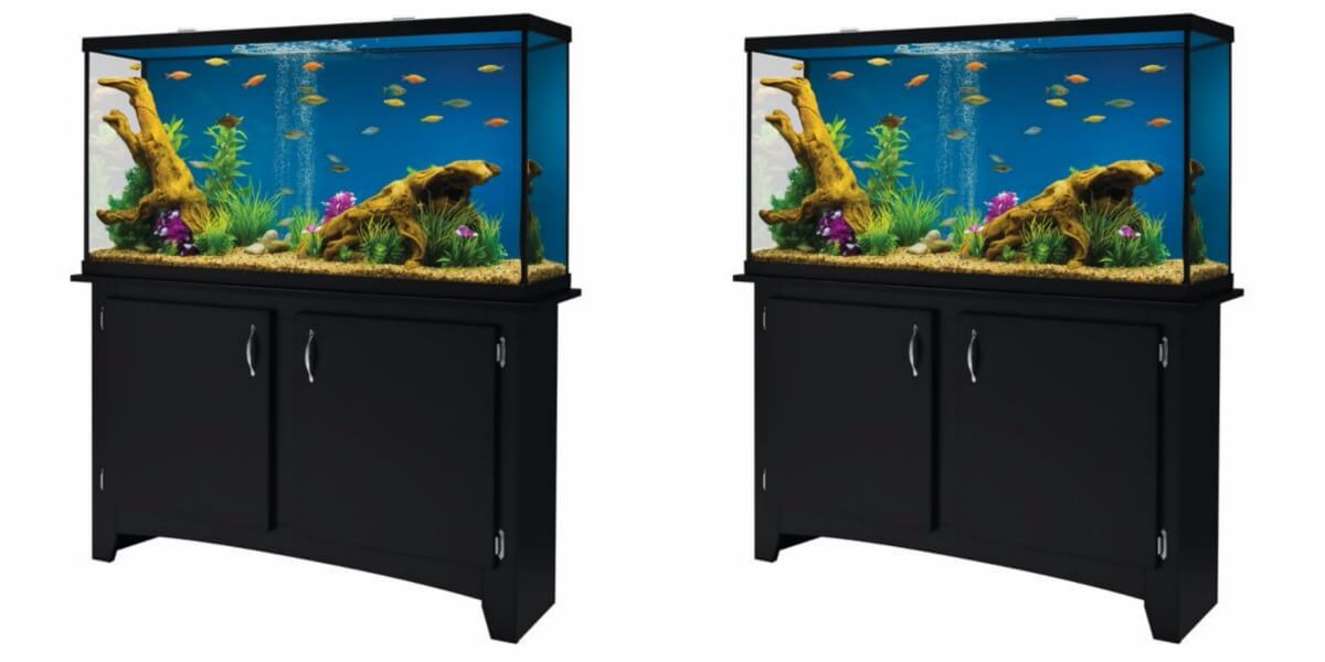 Marineland 60 gallon heartland led aquarium with stand for Kmart fish tank