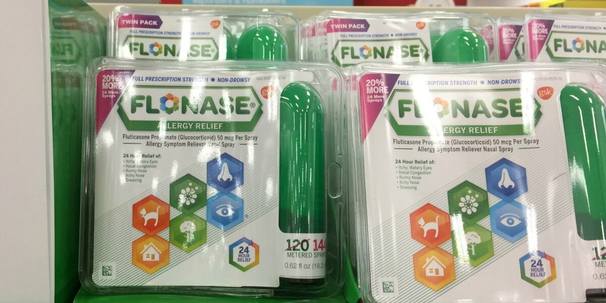 photo relating to Flonase Coupons Printable identify $6 in just Fresh Flonase Allergy Aid Discount codes DealsLiving Loaded