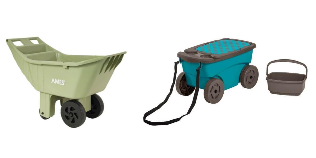 Ames 4 cu ft Poly Lawn Cart or Suncast 85 Gal Resin Garden