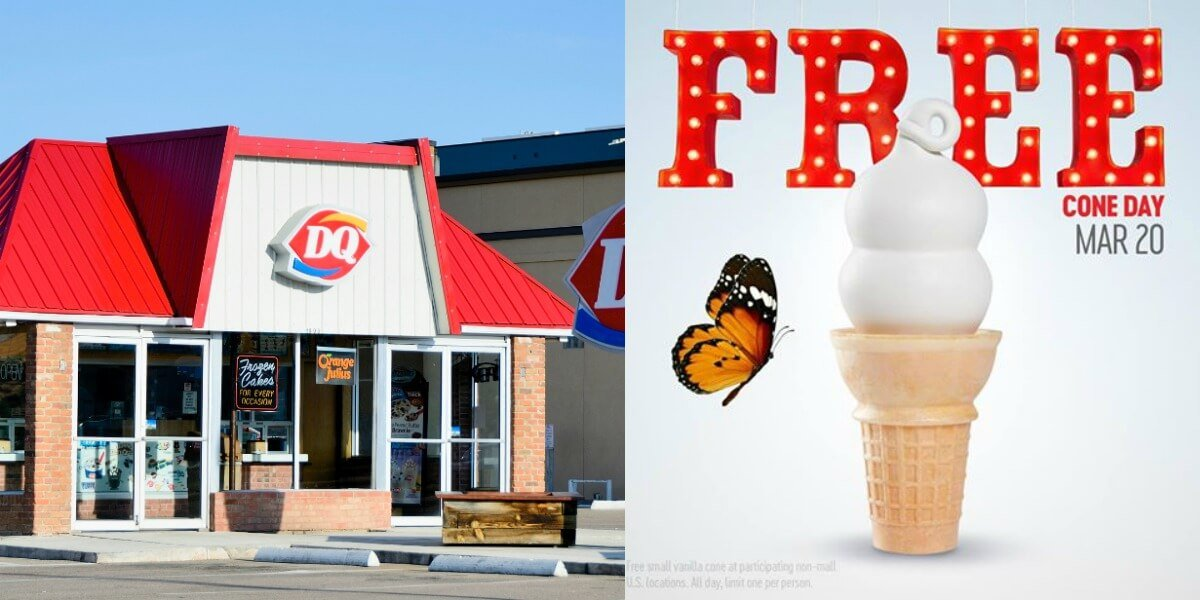 image relating to Dairy Queen Printable Application identify Kick off Spring - Absolutely free Cone Working day at Dairy Queen 3/20Dwelling