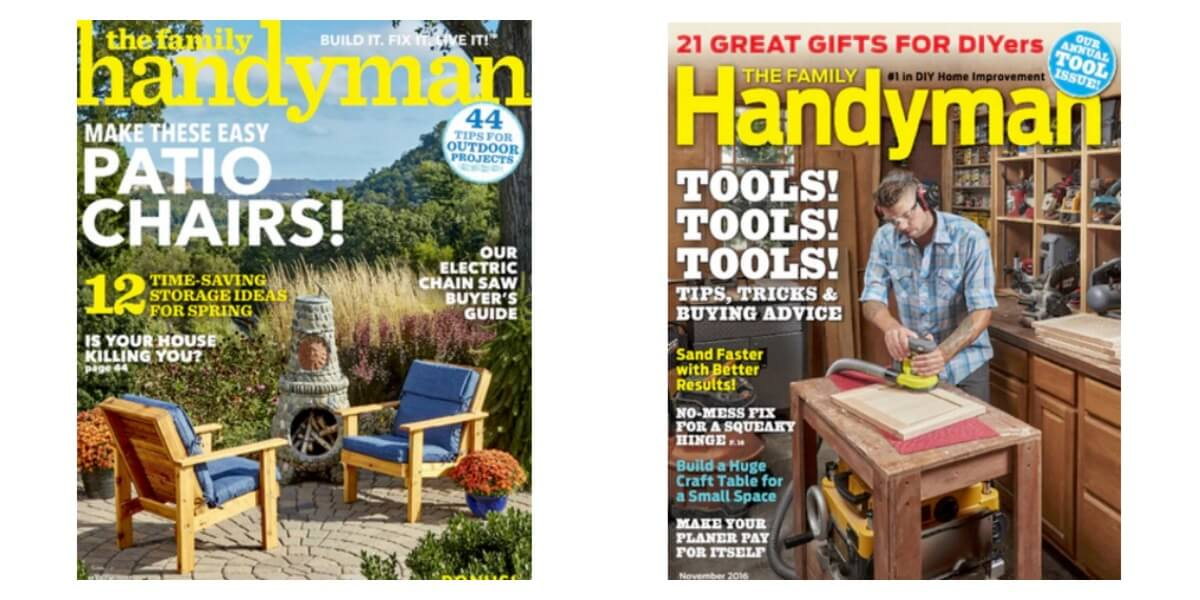 Family Handyman Magazine Only Per Year Living Rich With Coupons