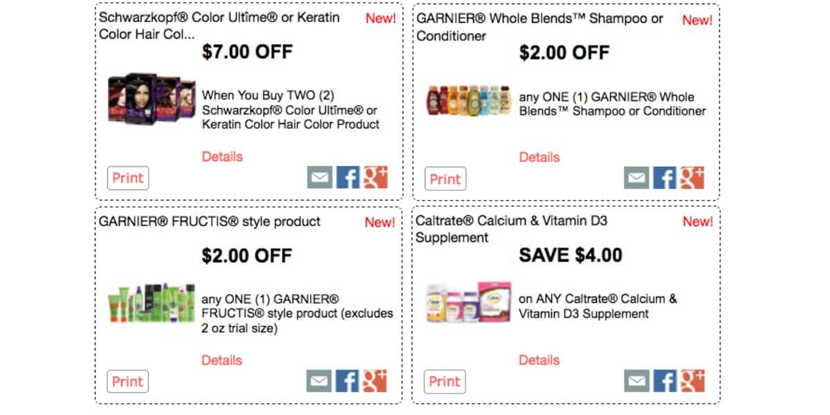 Over 52 In New Red Plum Printable Coupons Save On Garnier Schwarzkopf L Oreal More Living Rich With Coupons