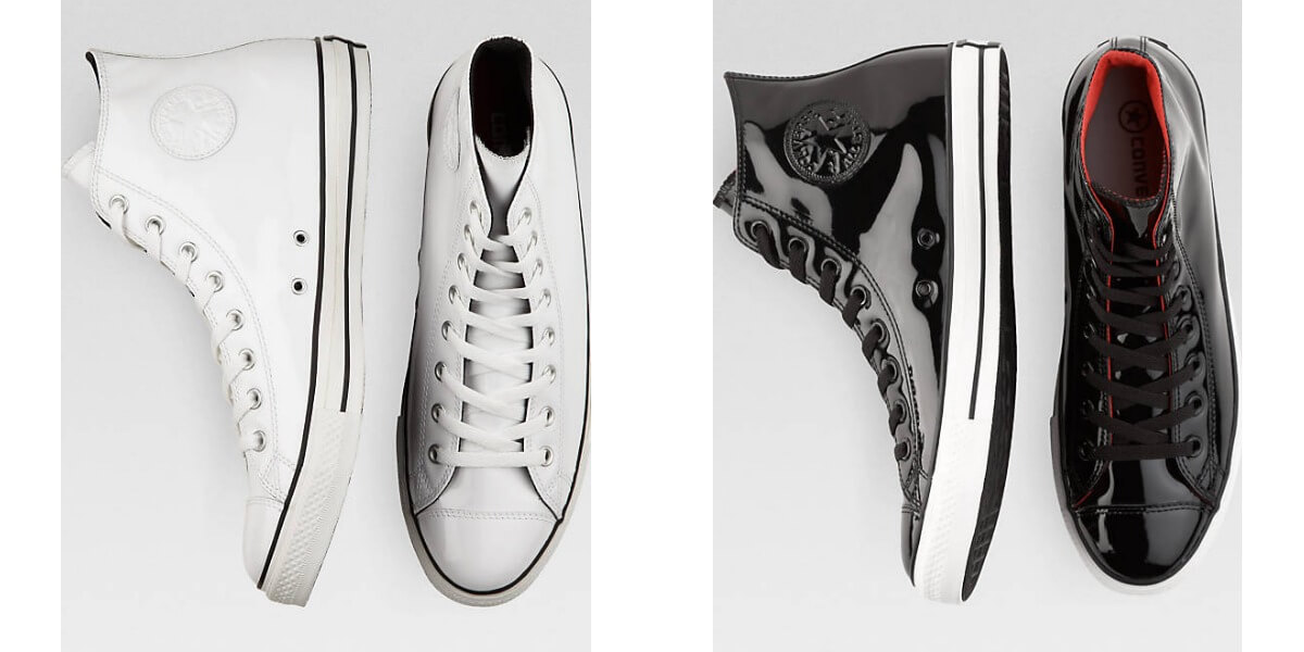 Converse Black or White Patent Leather