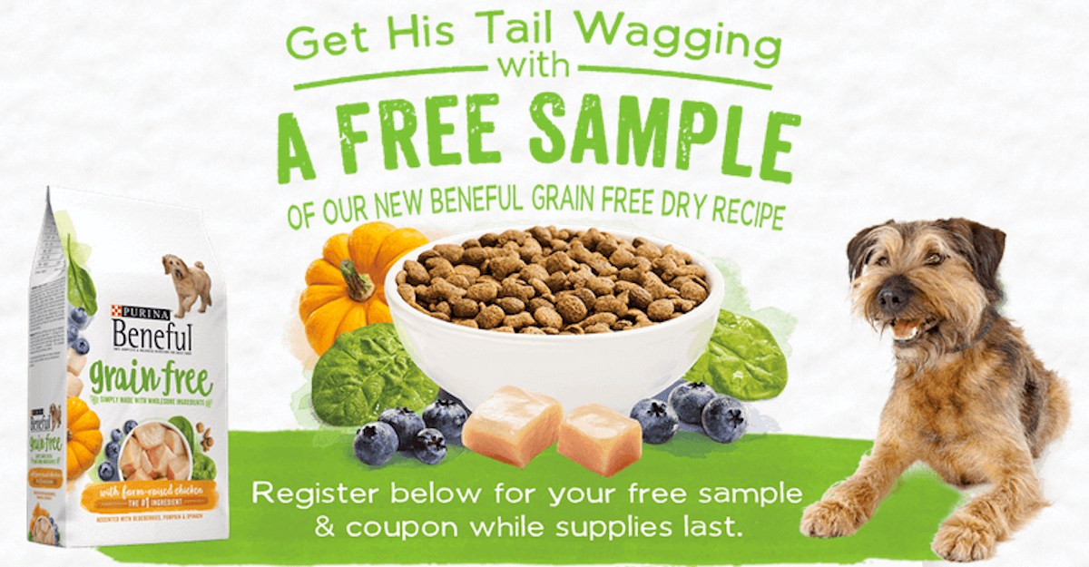 Free Sample: Purina Beneful Grain Free Dog FoodLiving Rich With ...