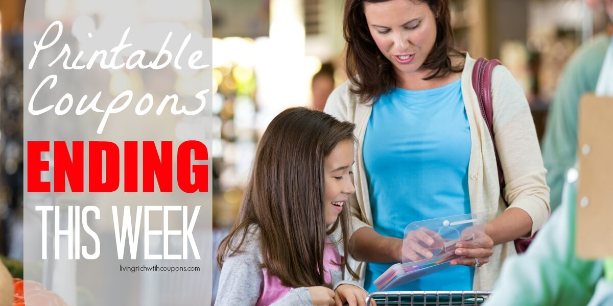 Printable Coupons Ending This Week 1/17