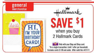 photo about Hallmark Coupon Printable referred to as Fresh new Coupon - Hallmark Playing cards Simply $1 at Reduce Retailer, Large