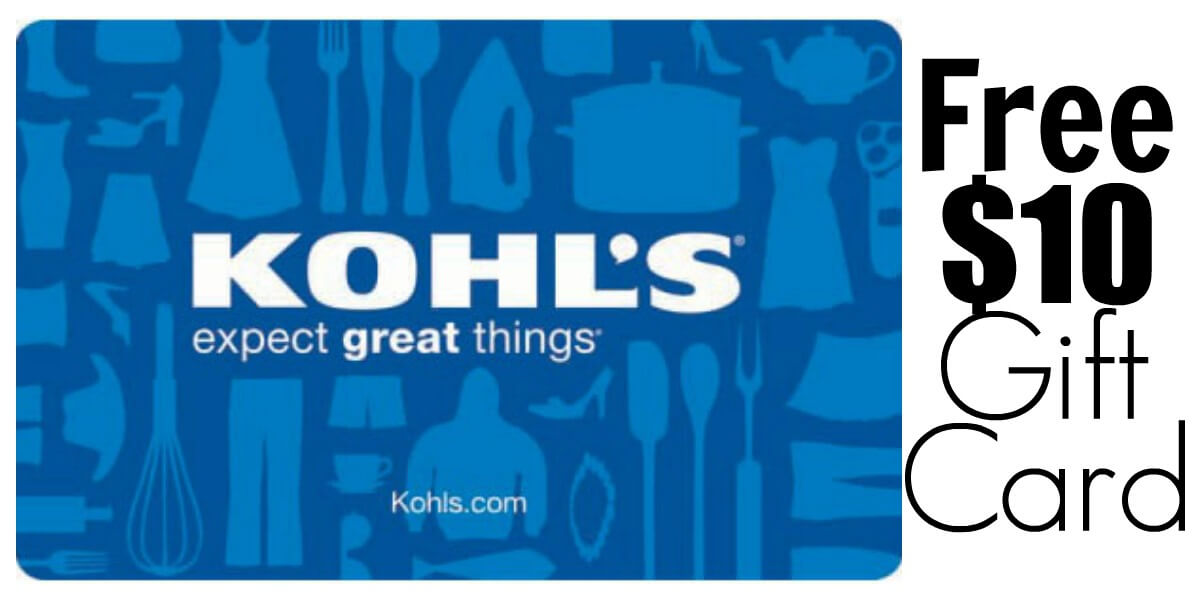 Free 10 Gift Card At Kohls Living Rich With Coupons 174