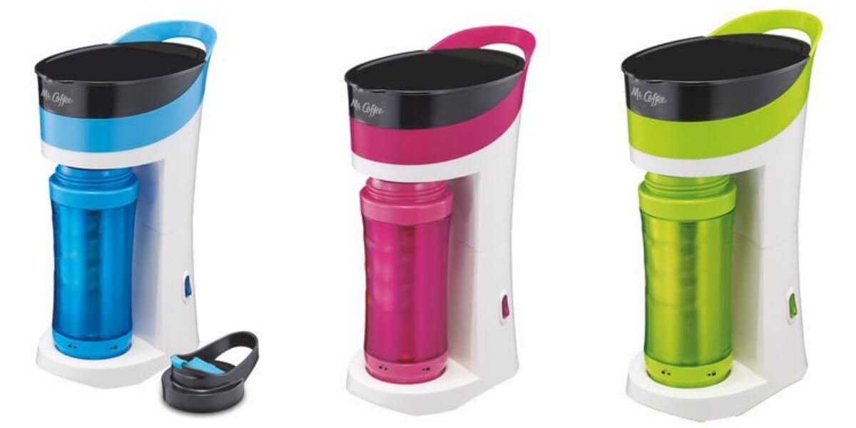 16-Oz Mr. Coffee Pour! Brew! Go! Coffee Maker w/ Insulated Travel Mug 2 For USD 25 + Free ...