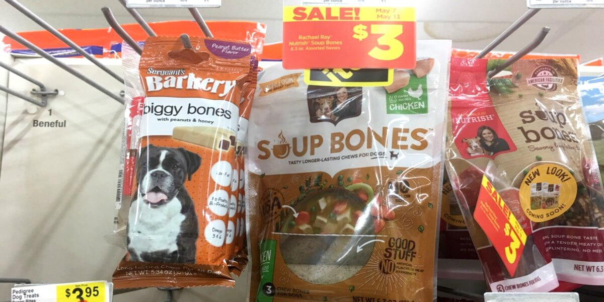 image relating to Printable Rachael Ray Dog Food Coupons identify Rachael Ray Nutrish Soup Bone Snacks Merely $1.50 at Greenback