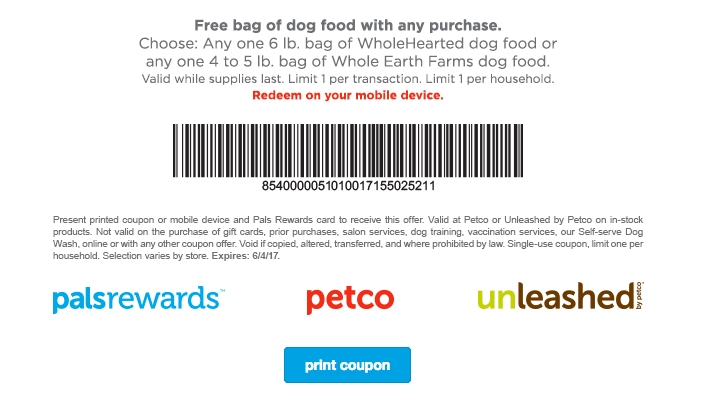 photo about Petco Coupons in Store Printable known as Fresh new Petco Coupon! Totally free Bag of WholeHearted or Comprehensive Globe