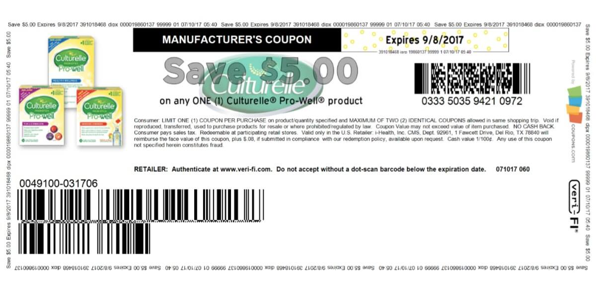 photograph about Culturelle Coupon Printable named Superior Price tag $5 Culturelle Coupon! Print Currently!Residing Wealthy