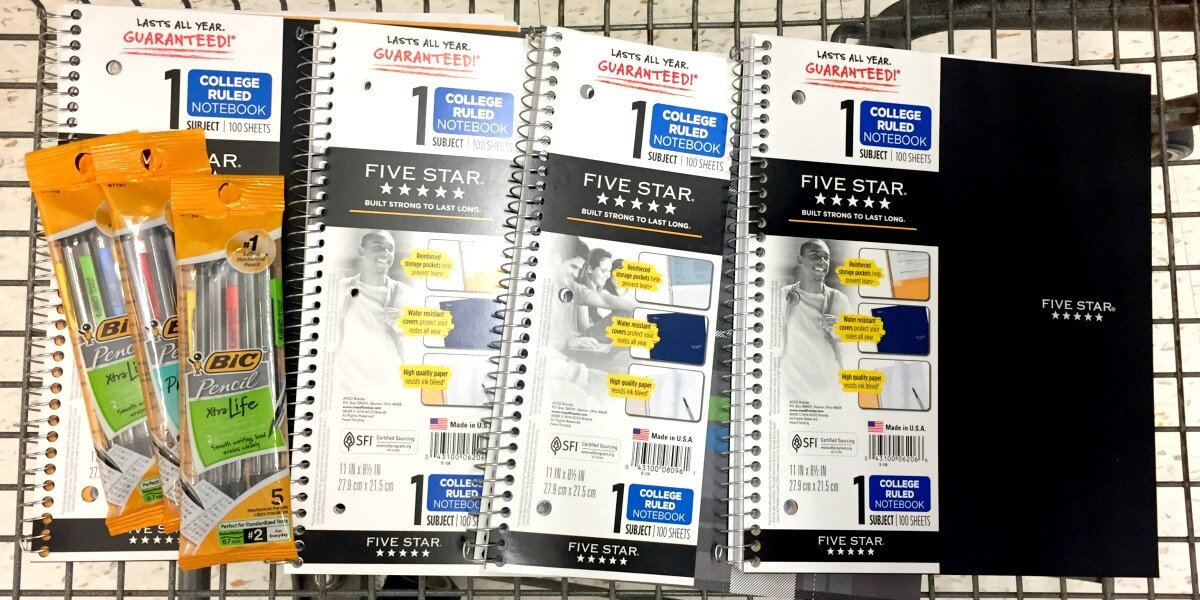 ShopRite School Supplies Catalina: Better Than FREE Bic Pencils & Five Star Notebooks! {7/30}
