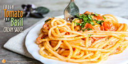 Fresh Tomato and Basil Cream Sauce recipe