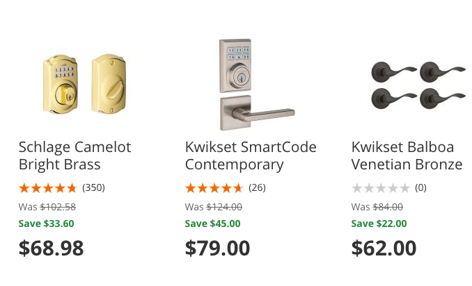 Home Depot: Up To 30% OFF Select Door Lock Hardware + Free Shipping!