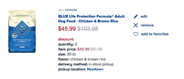 Blue dog food coupons petsmart