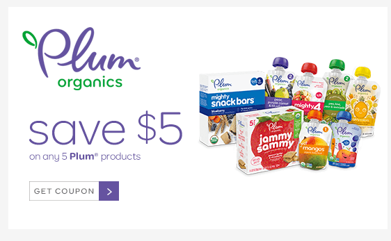 picture relating to Plum Organics Printable Coupon titled 5 Cost-free Plum Organics Kid Food items Pouches at Concentration!Dwelling Prosperous