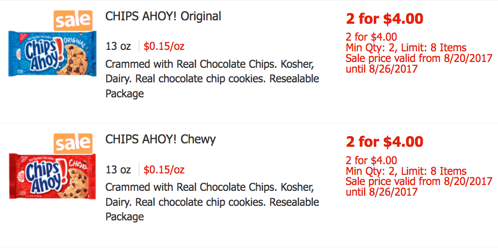 graphic relating to Chips Ahoy Coupons Printable named Nabisco Chips Ahoy! Cookies as Very low as $0.75 ShopRite!Dwelling