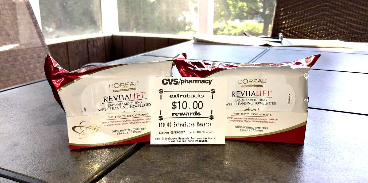 LOreal Revitalift Radiant Smoothing Cleansing Towelettes Only $0.49 at CVS!