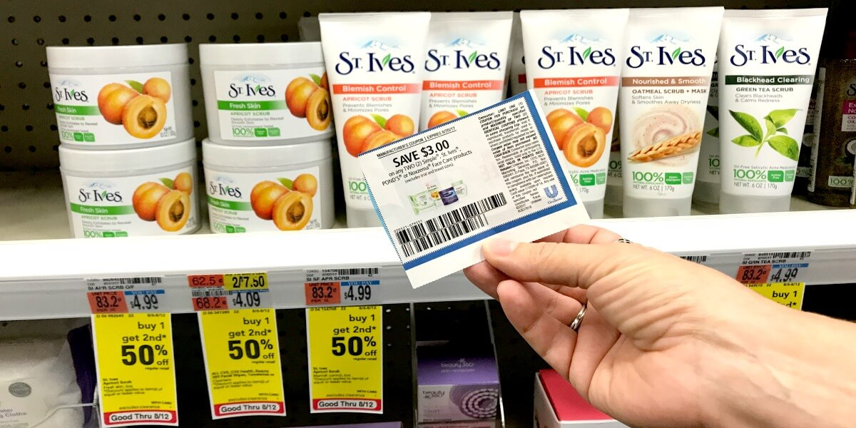 picture about St.ives Printable Coupons called Rating St. Ives Encounter Srub For as Reduced as $0.97 at CVS and