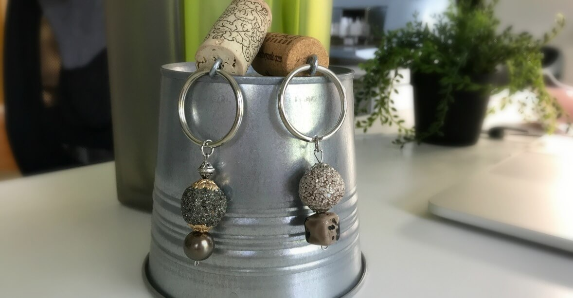 DIY Wine Cork Keychains