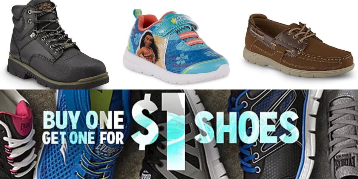 e45b5fcffef Kmart: Buy 1 Get 1 for $1 Men's, Women's, and Kid's ShoesLiving Rich ...