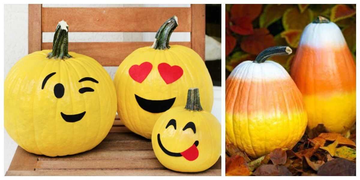 10 Fun No-Carve Pumpkin Decorating Ideas - Living Rich with ...