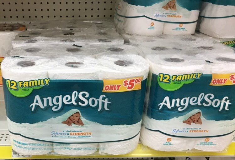 photograph regarding Angel Soft Printable Coupon named Angel Gentle Bathtub Tissue or Sparkle Towels only as lower as
