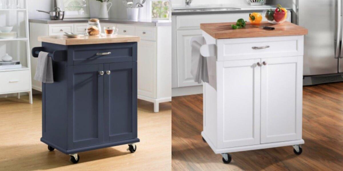 Home Depot: Hampton Bay Ashby White Kitchen Cart $89.88 (Reg ...