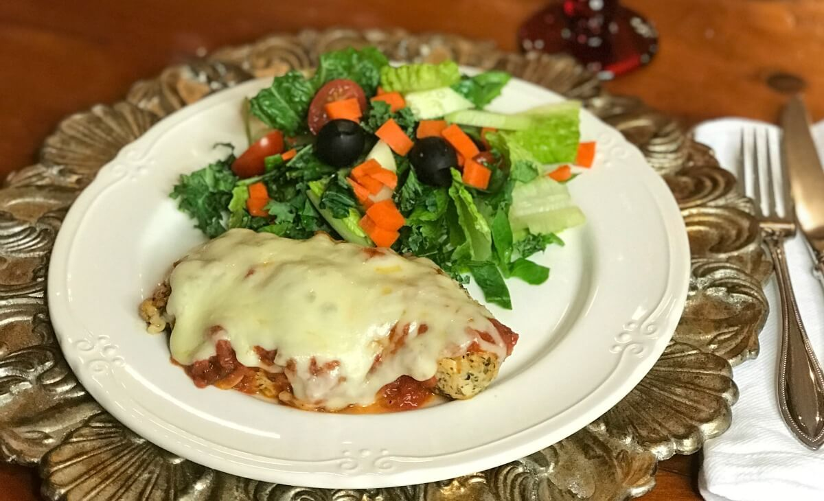 Chicken Parmesan for Gluten Free, Keto or low carb diets