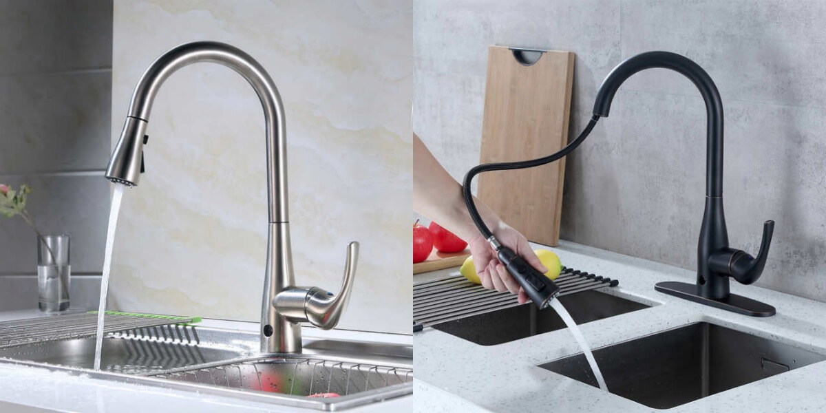 Costco Flow Motion Activated Pull Down Kitchen Faucet 3 Finishes 119 99 Reg 159 99 Living Rich With Coupons