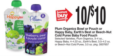 image regarding Plum Organics Printable Coupon named Plum Organics Pouches Particularly $0.50 at End Store, Big, and