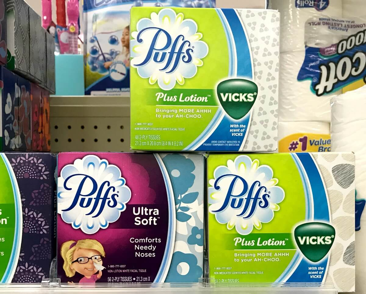 picture relating to Puffs Coupons Printable identified as Puffs Facial Tissue Cubes Basically $1 at Walgreens! Residing Abundant