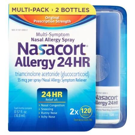 image relating to Nasacort Coupon Printable named Clean $5/1 Nasacort Allergy 24HR 120 Spray Coupon + Bargains at