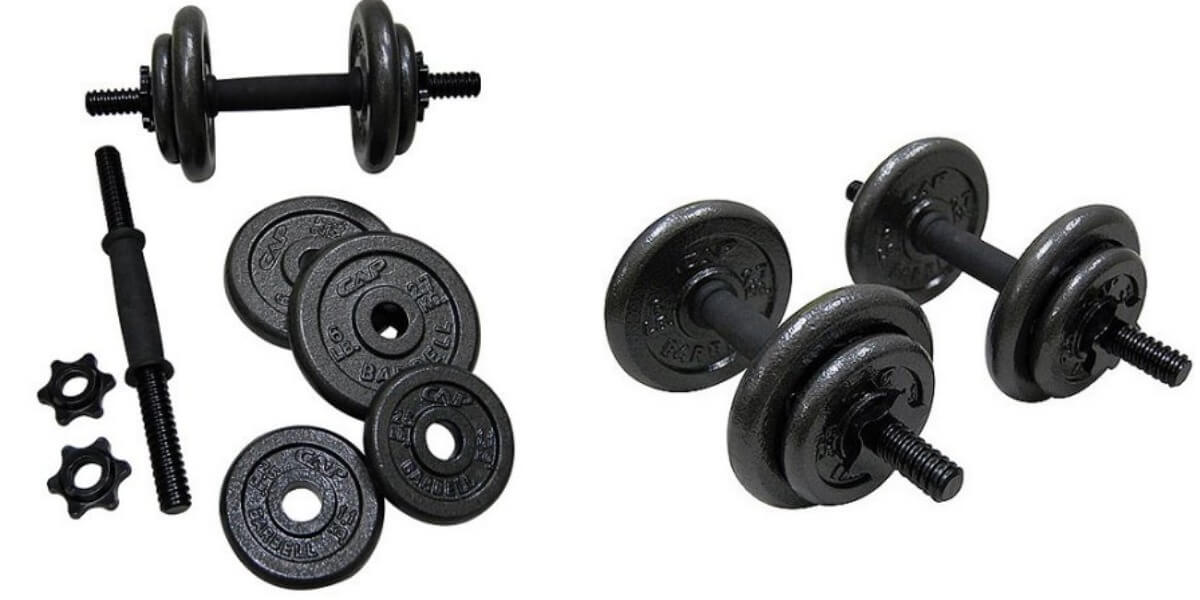 40 pound Adjustable Dumbbells Set Exercise Workout Weight Cast Iron Gym Fitness