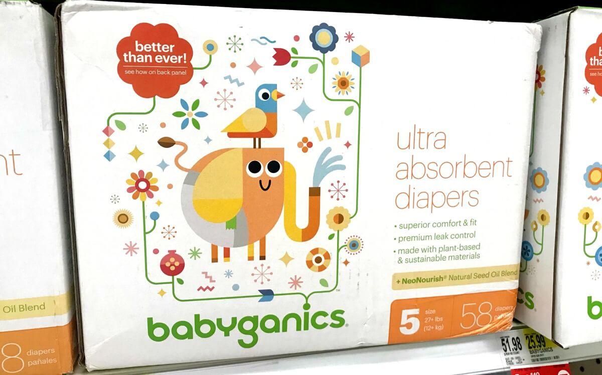 image relating to Babyganics Coupon Printable named Fresh $5/1 Babyganics Box Diaper Coupon + Astounding Emphasis Present