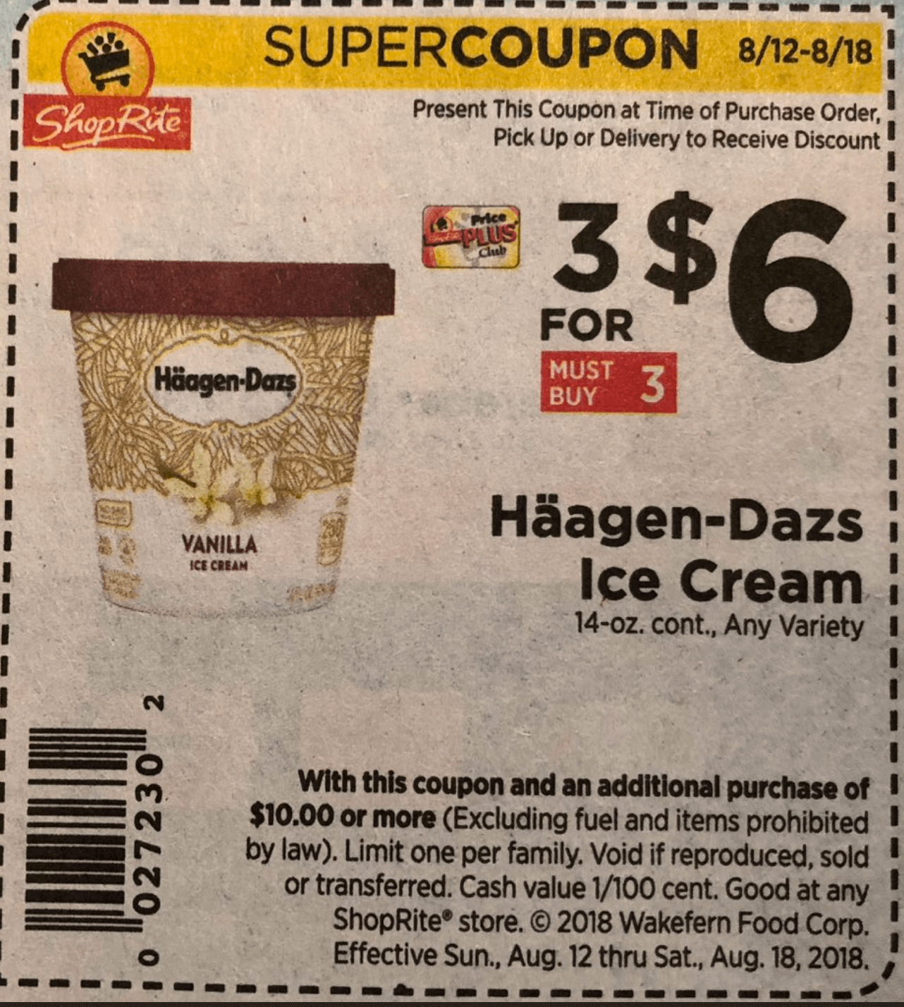 Haagen Dazs Ice Cream As Low As 0 66 At Shoprite Living