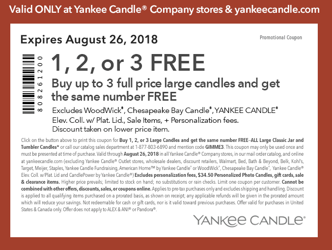 picture about Yankee Candle Coupons Printable referred to as Yankee Candle: Obtain 3 Heavy Candles Take 3 FREELiving Prosperous
