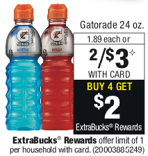 photograph regarding Gatorade Coupons Printable called Gatorade 24 oz. Bottles Simply $1.00 at CVS! No Coupon codes