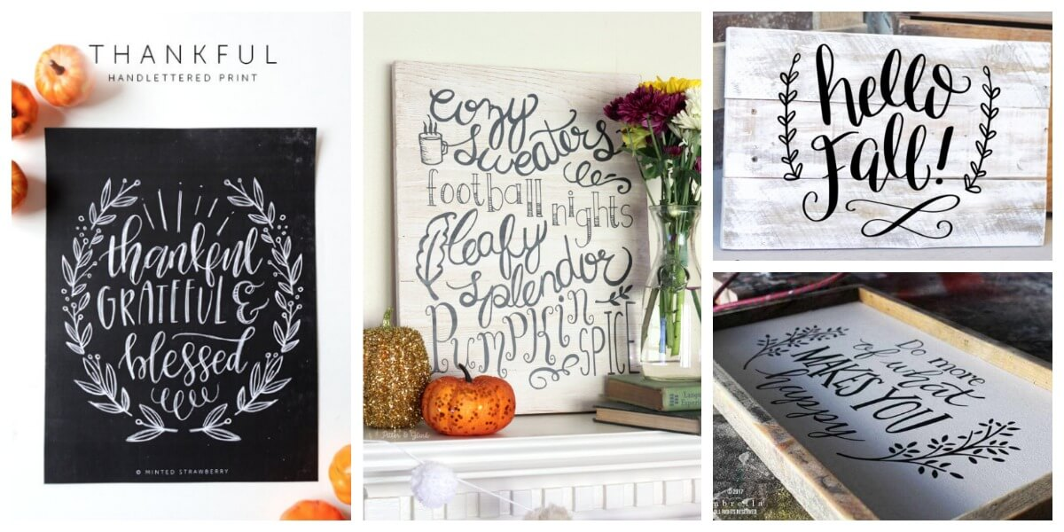 DIY Fall Signs