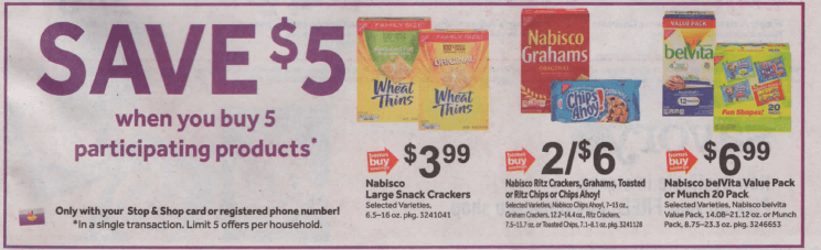 Ritz Crackers and Chips Ahoy Cookies as low as $0 58 at Stop